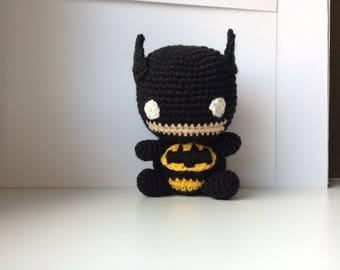 Batman crochet amigurumi plush. Chibi DC toys.