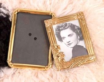 Vintage Gold Picture Frames, Pair of Frames