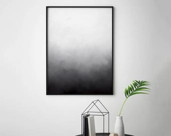 Grey White Abstract Print, Grey White Abstract Art, Grey Minimalist Print, Modern Black and White Printable Wall Art Gray and White Wall Art