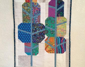 Modern Quilted Tree Wall Hanging