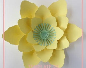PDF Paper Flower, Paper Flower Template, Giant Paper Flower Template, Flower Template, Base and Instruction Including