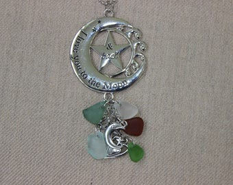 Love you to the moon and back car charm