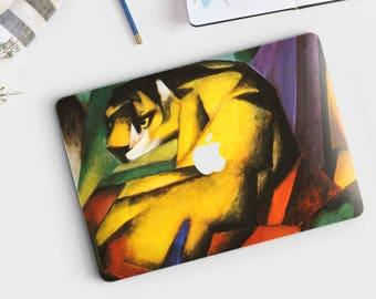 "Franz Marc, ""Tiger"". Macbook Pro 15 cover, Macbook Pro 13 cover, Macbook 12 cover. Macbook Pro cover. Macbook Air cover."