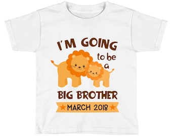 I'm going to be a big brother Shirt - Pregnancy Baby Announcement - Lion Big Brother - Promoted to big Brother - Big Brother to Be for Boys
