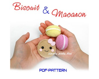 Crocheted Biscuit and Macaron PDF pattern