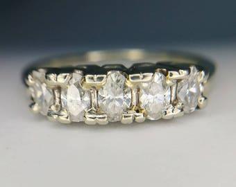 Antique Half Carat Diamond Ring Size 5