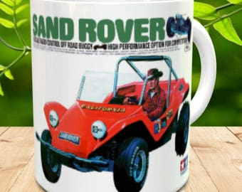 Sand Rover Coffee Mug with optional Keychain, gift for RC lover, RC Car Coffee Mug, Gift for Him, Radio Controlled Car Mug, RC car gift