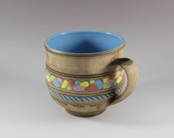 Ceramic Handmade Mug, Large Coffee Mug, Unique Ceramic Tea Mug, Ceramic Mug, Mug – Pottery, 17 oz mug