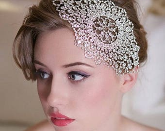 Crystal bridal hair piece