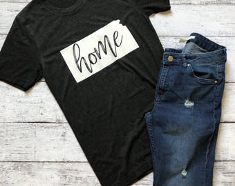 Home Shirt / Kansas Shirt / Custom Home Shirt / Graphic Tee / Graphic T-Shirt / Christmas Gift / Gifts For Her / Womens Shirt / Kansas Home