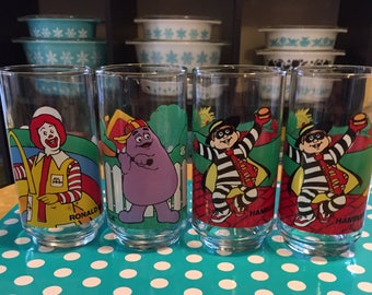 4 *New* McDonalds Drinking Glasses