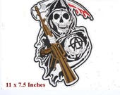 son of anarchy large Patch Embroidered Iron Sewon Patch