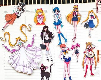 Sailor Moon Stickers ~ Manga Stickers, Kawaii Stickers ~ Cute Stationery, Scrapbooking, Cute Stickers, Japanese Stickers, Cute Girl Stickers