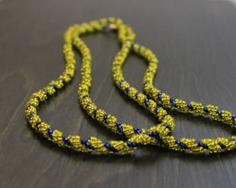 Spiral Beaded Rope Necklace