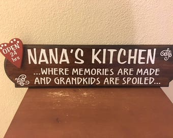 Nana's Kitchen Wooden Sign
