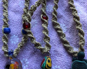 Handmade Pendant Hemp Necklaces