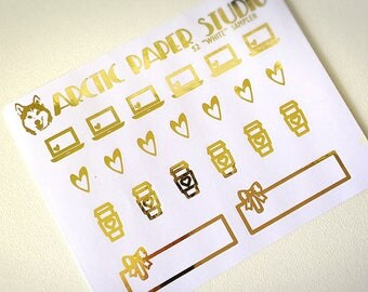 Sampler - FOILED Sampler Event Icons Planner Stickers