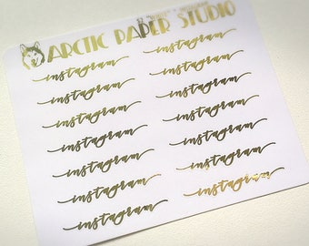 Instagram SCRIPTS - FOILED Sampler Event Icons Planner Stickers
