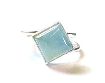 Aquamarine Adjustable Ring