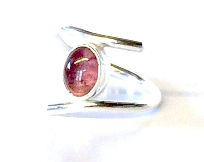Pink Tourmaline (Oval) Adjustable Ring