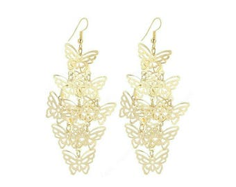 Gold Butterfly Earrings,Butterfly Earrings,Multi Butterfly Earrings,Butterfly Jewelry, Gold Butterfly  Jewelry