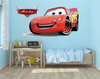 Disney Decals, Lightning Mcqueen Wall Decal,Game Room, Cars Decals, Cars  Wall
