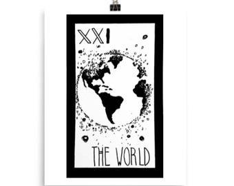 The World Tarot Print