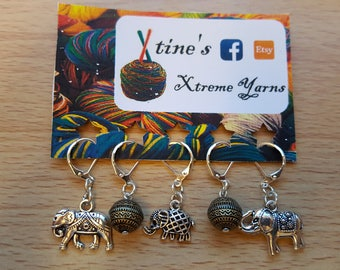 The Elephant Collection - Version 3 Stitch Markers