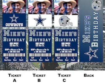 Dallas Cowboys Ticket Invitation
