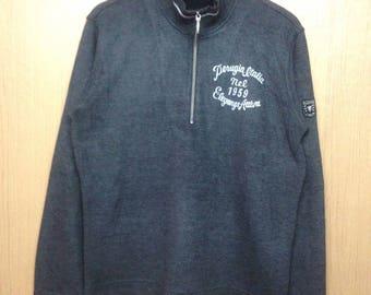 Rare !!! Vintage ELLESSE Sweatshirt Crewneck Pullover Original Ellesse Perugia ITALY Jacket Half Zipper