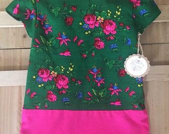 Green Goralski Floral 4T Girl Sukienka (Dress)