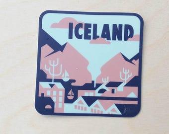 Reykjavik, Iceland Travel Sticker