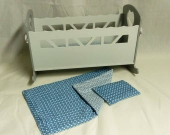 bed rocking doll bed set