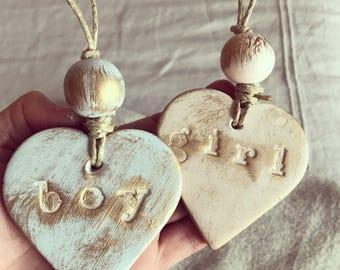 Petite heart ornaments