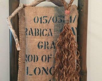 Tassel, door decor, door hanger, manila rope decor, door tassel, wall art, macrame
