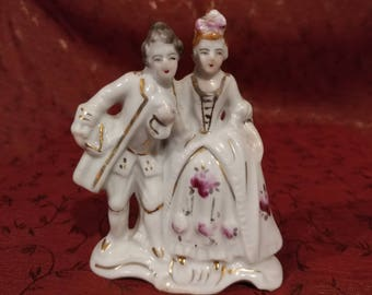 Rare Made in Occupied Japan Porcelain French Baroque Figures