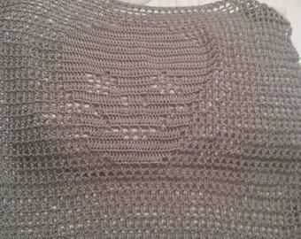 Reversible crochet skull sweater
