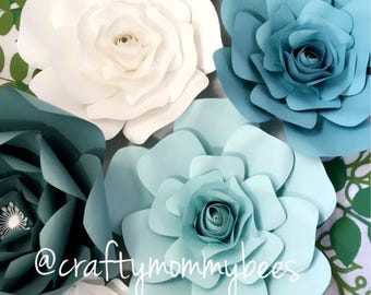 7pc Paper Flower Set