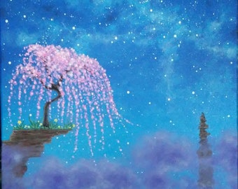 Cosmos and the Pink Tree