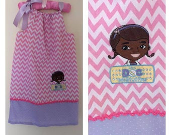 girls dress, girls clothing, disney dress, doc mcstuffins dress, doc mcstuffins party, birthday outfit, embroidered dress, disney clothing