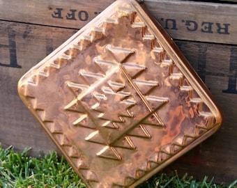 Copper Mold - Vintage Copper Mold - Copper Wall Hang - Copper Decor - Vintage Copper Brass Wall Hang - Boho Decor - Copper Brass Mold -