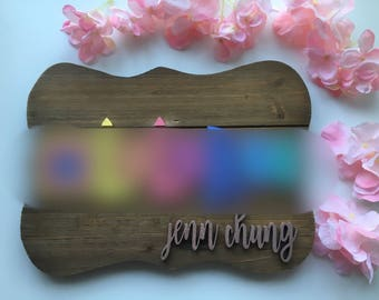 Custom business company sign with your name on it. Your logo/business name/laser cut sign. Lularoe lipsense anything!!
