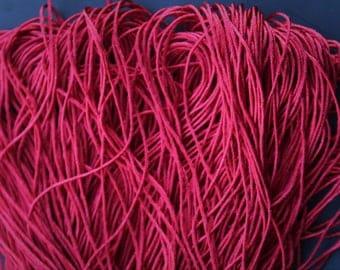 Pure Silk Yarn, 100%  Mulberry Silk Filamentated, Organic, Hand - dyed ,Color: Vermelho 135g