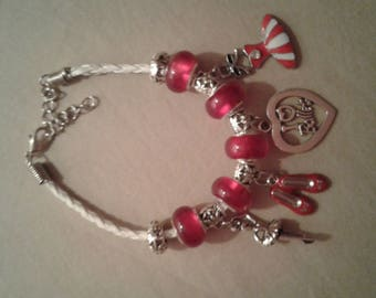 I Love Ballet Pink Charm Bracelet