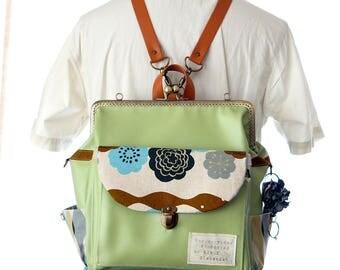 Made in japan 3WAY With side zipper Backpack S size 【Japanese pattern WANOHANA】
