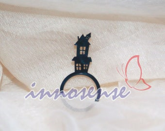 The Crooked House - acrylic ring