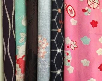 Vintage Silk Kimono Fabric Remnat
