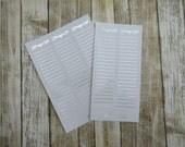 FOILED Long Prayer List Sidebar Stickers, prayer request sticker, faith sticker, sidebar sticker, functional sticker, planner sticker