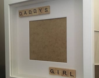Daddy's girl scrabble photo frame - dad photo frame