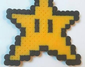 Mario star / Star Mario - Mario Pixel art beads